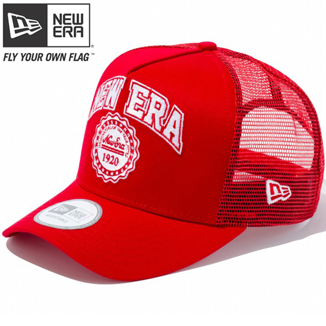 New era die frame trucker mesh Cap College red mesh Scarlet snow white New  Era D-Frame Trucker Mesh Cap College Red Mesh Scarlet ba823617b61