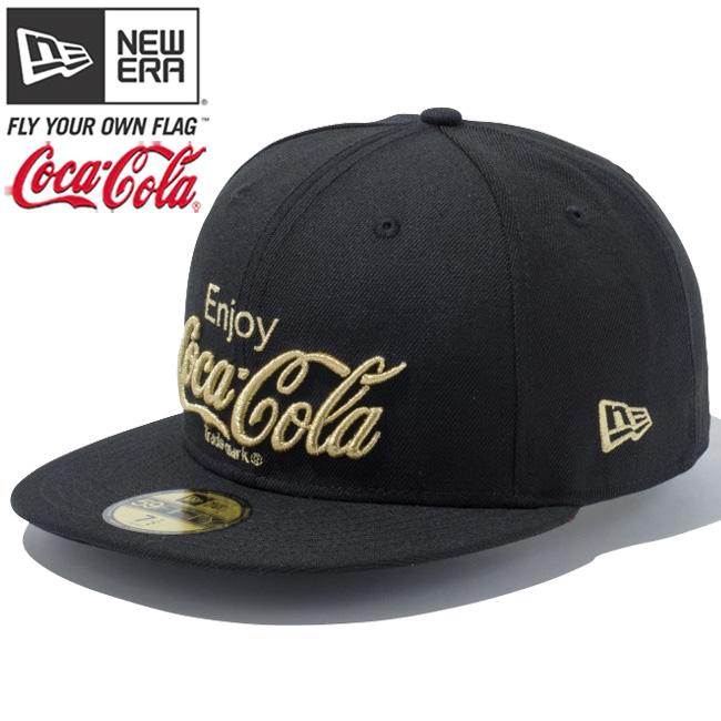 Coca-Cola x new era 5950 Cap Gold logo original Coca Cola black gold Coca  Cola×New Era 59 FIFTY Cap Gold Logo Original Coca Cola Black 382cbca5537