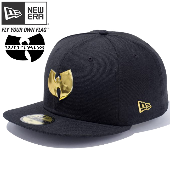 cio-inc  New era Cap 5950 Gold logo Wu-Tang clan utan logo Black ... 98011e24fba