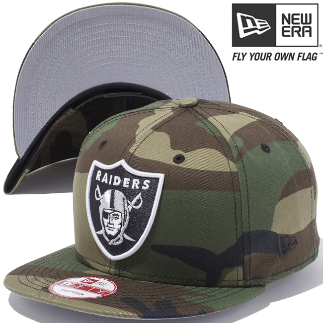 New era 950 Snapback Cap NFL custom Oakland Raiders Woodland Camo New Era  9FIFTY Snap Back Cap NFL CUSTOM Oakland Raiders Woodland Camo f22e914c1a4