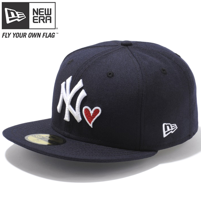 351a25a00 New Era 59FIFTY Cap Heart Logo Collection New York Yankees Navy Snow White  Radiant Red Heart