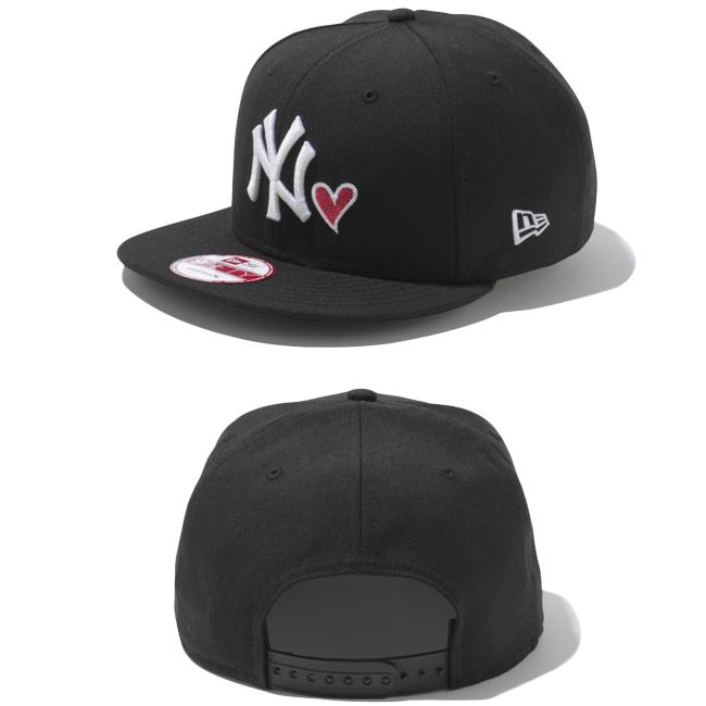 뉴 에러 950 스냅 백 캡 하트 로고 컬렉션 뉴욕 양키스 블랙 New Era 9 Fifty Cap Heart Logo Collection New York Yankees Black