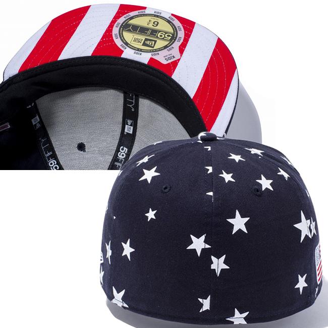 0eeaac1b8484b ... cheap new era 5950 kids stars and stripes under visor new york yankees  star print new