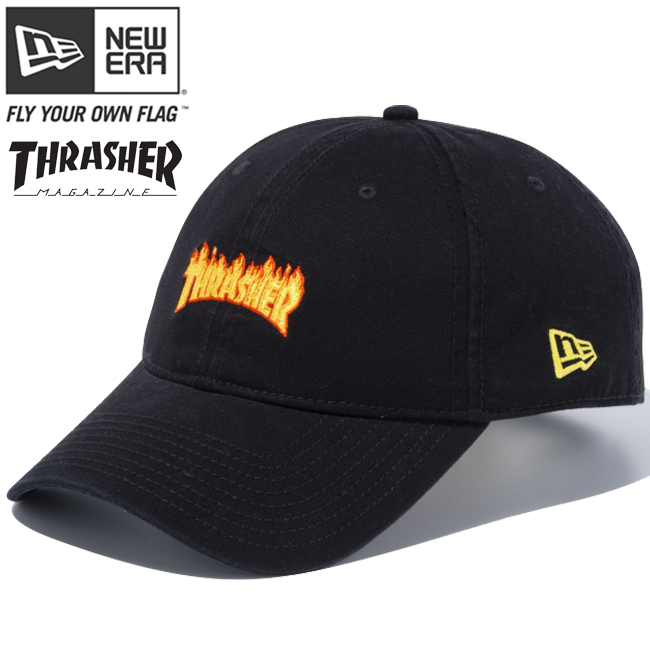 Thrasher x new era Cap 920 cross strap mini black multicolor ombre gold  Thrasher×New Era 9Twenty Cloth Strap Mini Black Multi Color Gold 31cb6bb3139