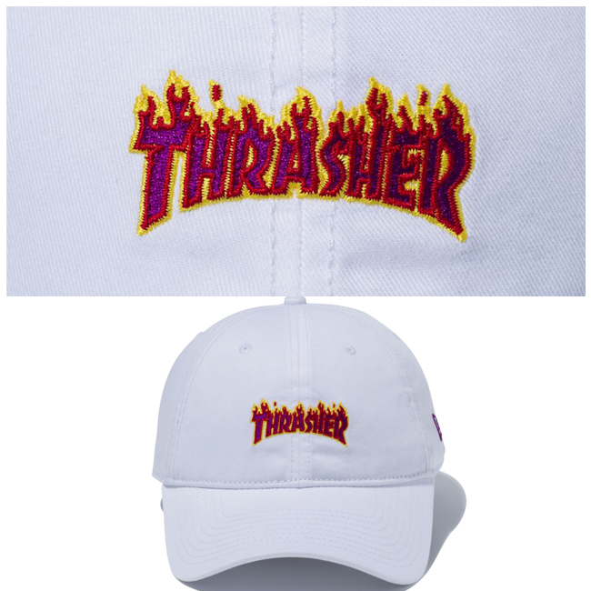 Thrasher x new era Cap 920 cross straps mini White multi color deep magenta  Thrasher×New Era 9Twenty Cloth Strap Mini White Multi Color f5db1182dc41