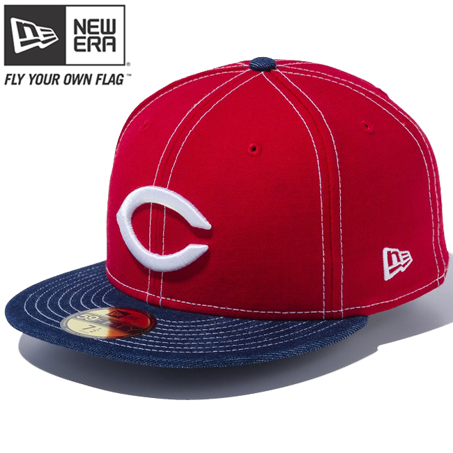 ab488f797a1 New gills 5950 cap two dragonfly D NPB custom Hiroshima Orient (Hiroshima  cane Yaw) carp scarlet denim New Era 59FIFTY Cap 2tone Body NPB Custom  Hiroshima ...