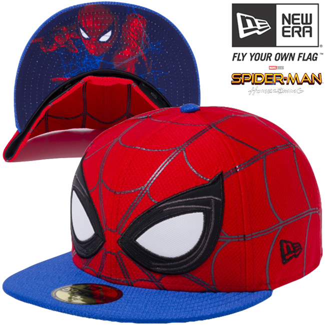 cio inc spider man x new gills 5950 cap all over style face scarlet