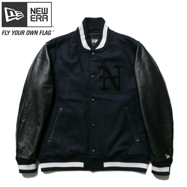 ニューエラ スタジアムジャケット N パッチ ネイビー ブラック ブラック ネイビー ホワイト New Era Stadium Jacket N Patch Navy Black Black Navy White【あす楽対応_近畿】【あす楽対応_中国】【あす楽対応_四国】【あす楽対応_九州】