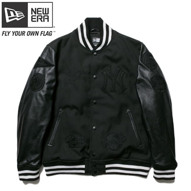 ニューエラ スタジアムジャケット ニューヨークヤンキース MLB フルパッチ ブラック ブラック ブラック ブラック New Era Stadium Jacket New York Yankees MLB Full Patch Black【あす楽対応_近畿】【あす楽対応_中国】【あす楽対応_四国】【あす楽対応_九州】