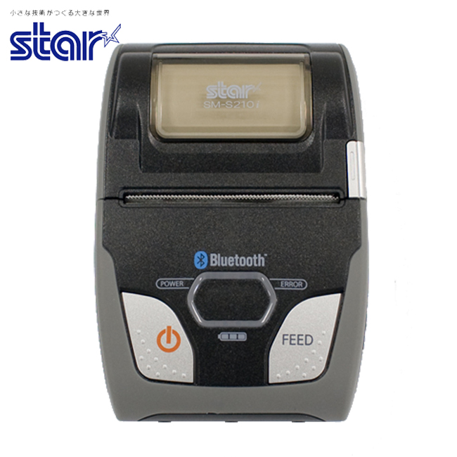 スター精密 モバイル型感熱式プリンター SM-S210iシリーズ SM-S214I2-DB40 JP RS232C Bluetooth接続 カードリーダー装備モデル MFi認定 ブラック グレー Star Micronics Mobile Thermal Printer SM-S210i Series SM-S214I2-DB40 JP RS232C Bluetooth Connection