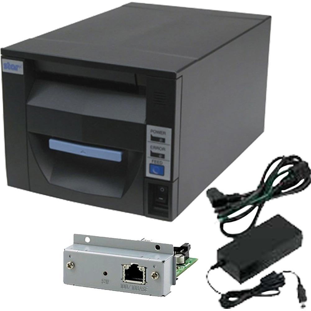 スター精密 据え置き型感熱式プリンター FVP10シリーズ FVP10U-24J1 GRY JP セット(ACアダプター、インターフェースカード付き) グレー Star Micronics Stationary Thermal Printer FVP10 Series FVP10U-24J1 GRY JP Set (including AC Adapter and Interface Card) Gray