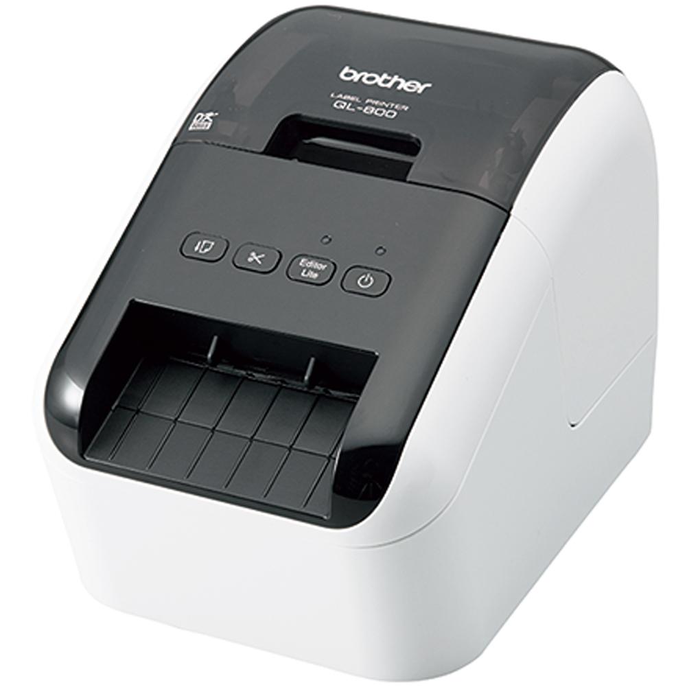 ブラザー PC宛名ラベルプリンター ピータッチ QL-800 ホワイト Brother PC Address Label Printer P-touch QL-800 White