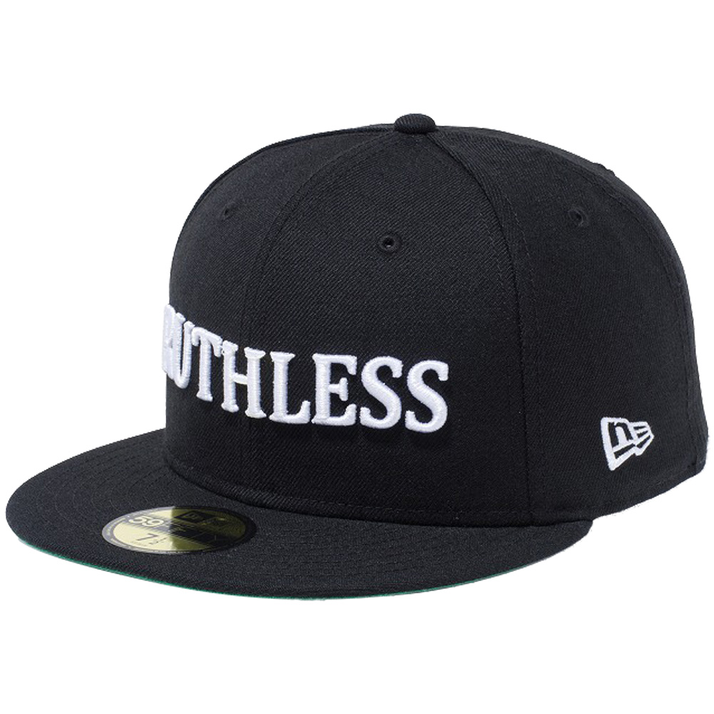 New gills 5950 cap white logo NWA music culture Ruthless RUTHLESS Brach s  no white New Era 59FIFTY Cap White Logo NWA Music Culture Ruthless Black 7f52141eb5d
