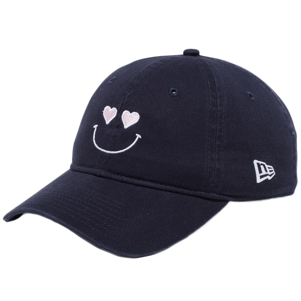 8879f335ea9 New gills 920 cap closing strap smile collection heart navy Snow white pink  Snow white New Era 9TWENTY Cap Cloth Strap Smile Collection Heart