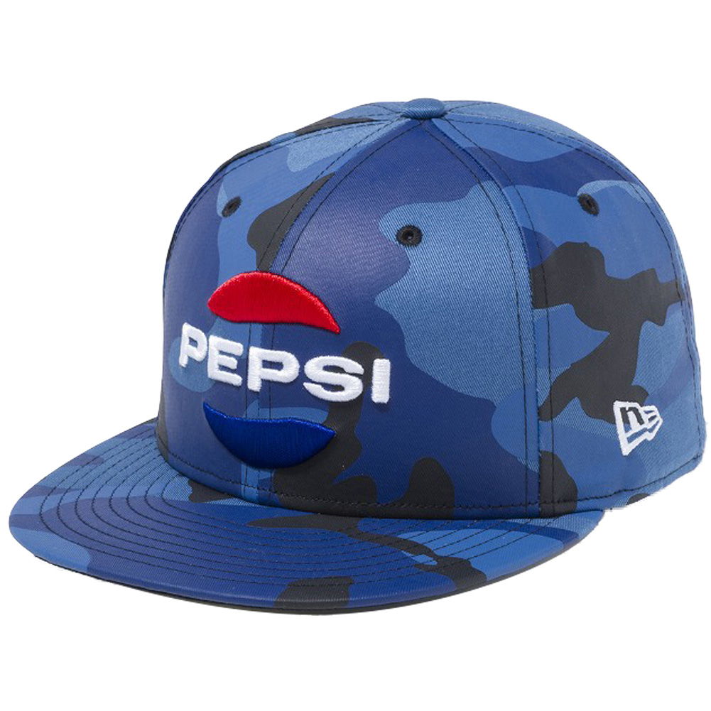 b9ceaff7e8849 Pepsi X new gills 5950 cap multi-logo blue duck Snow why thoraDeanne tread  Thiaw blues no white Pepsi X New Era 59FIFTY Cap Multi Logo Blue Camo