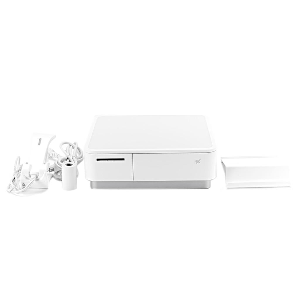 スター精密 キャッシュドロア(キャッシュドロワ)一体型感熱式プリンター mPOPシリーズ 旧 POP10-B1OF WHT JP 新 POP10-B1 WHT JP バーコードリーダー同梱 USB Bluetooth DK MFi ホワイト Star Micronics Cash Drawer with Integrated Thermal Printer mPOP Series