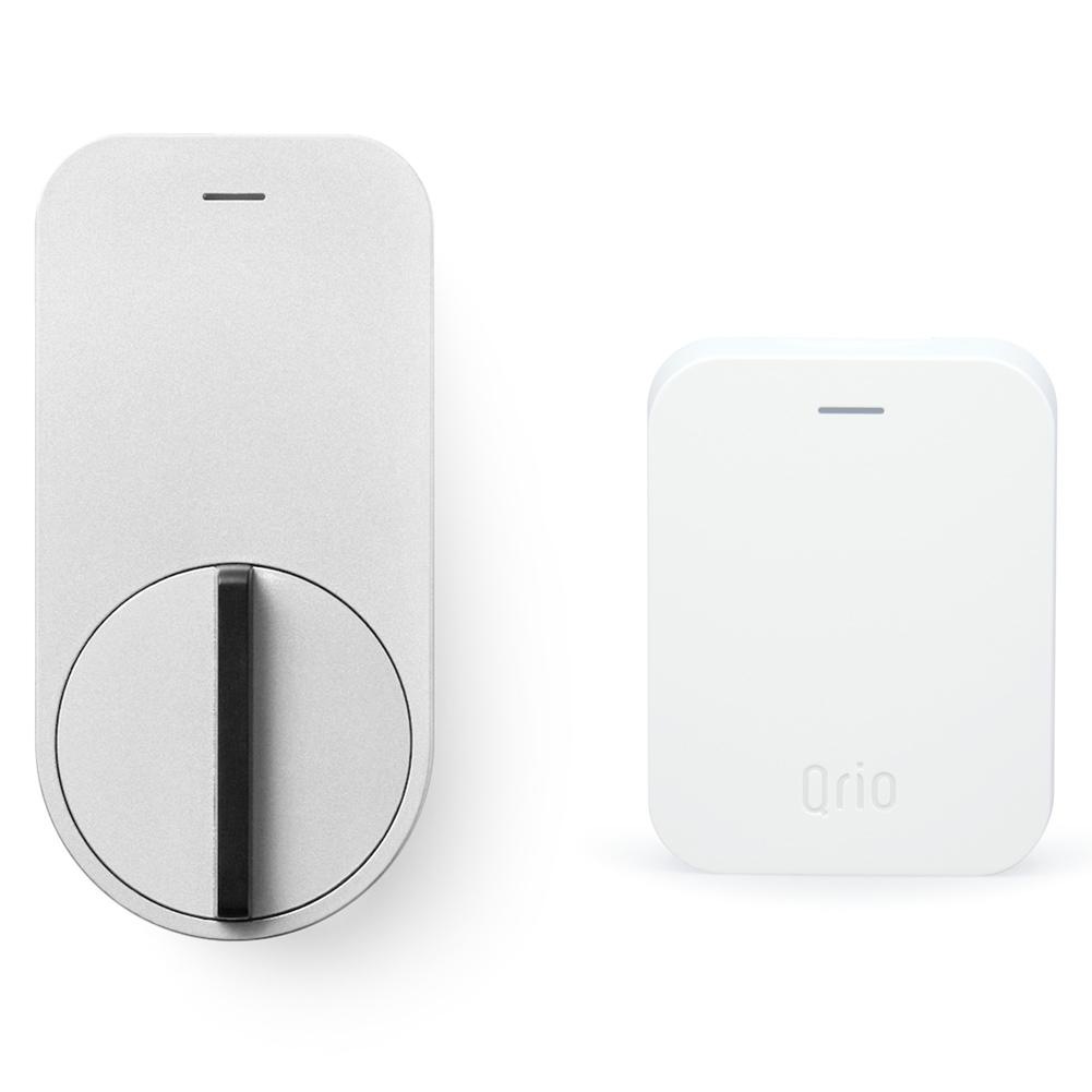 キュリオ スマートロック Q-SL1-HS(Q-SL1&Q-H1) セット(キュリオ ハブ付き) シルバー Qrio Smart Lock Q-SL1-HS(Q-SL1&Q-H1) Set (including Qrio Hub) Silver【あす楽対応_近畿】【あす楽対応_中国】【あす楽対応_四国】【あす楽対応_九州】