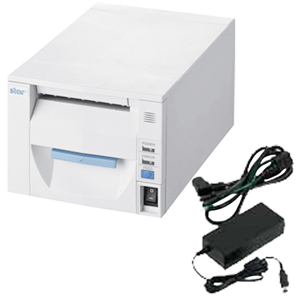 スター精密 据え置き型感熱式プリンター FVP10シリーズ FVP10UE3-24J1 JP FVP10UE3-24J1-JP-PS-WHT セット(ACアダプター) Ethernet接続 ホワイト Star Micronics Stationary Thermal Printer FVP10UE3-24J1 JP FVP10UE3-24J1-JP-PS-WHT Set (including AC Adapter)
