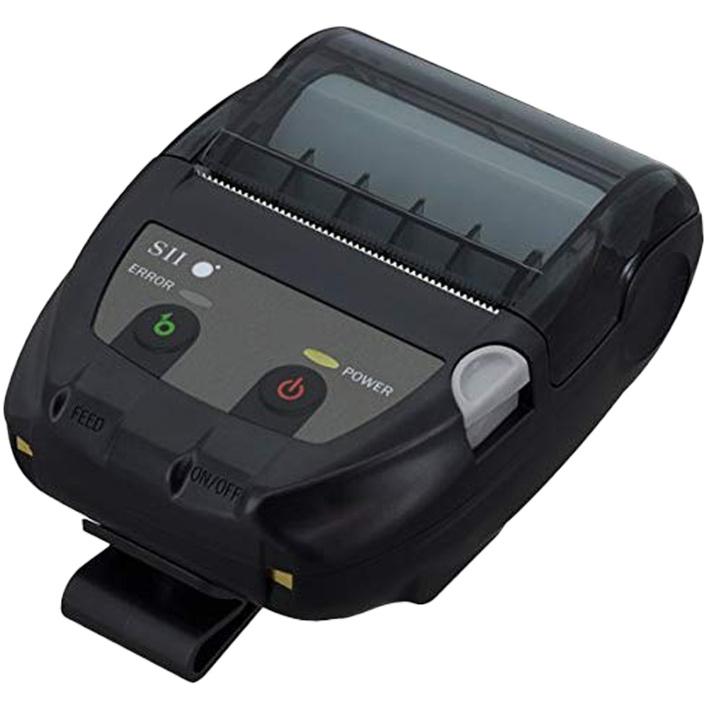 セイコーインスツル モバイル型感熱式プリンター MP-B20 USB Bluetooth接続 MFi認定 ブラック Seiko Instruments Mobile Thermal Printer MP-B20 USB Bluetooth Connection MFi Certified Black