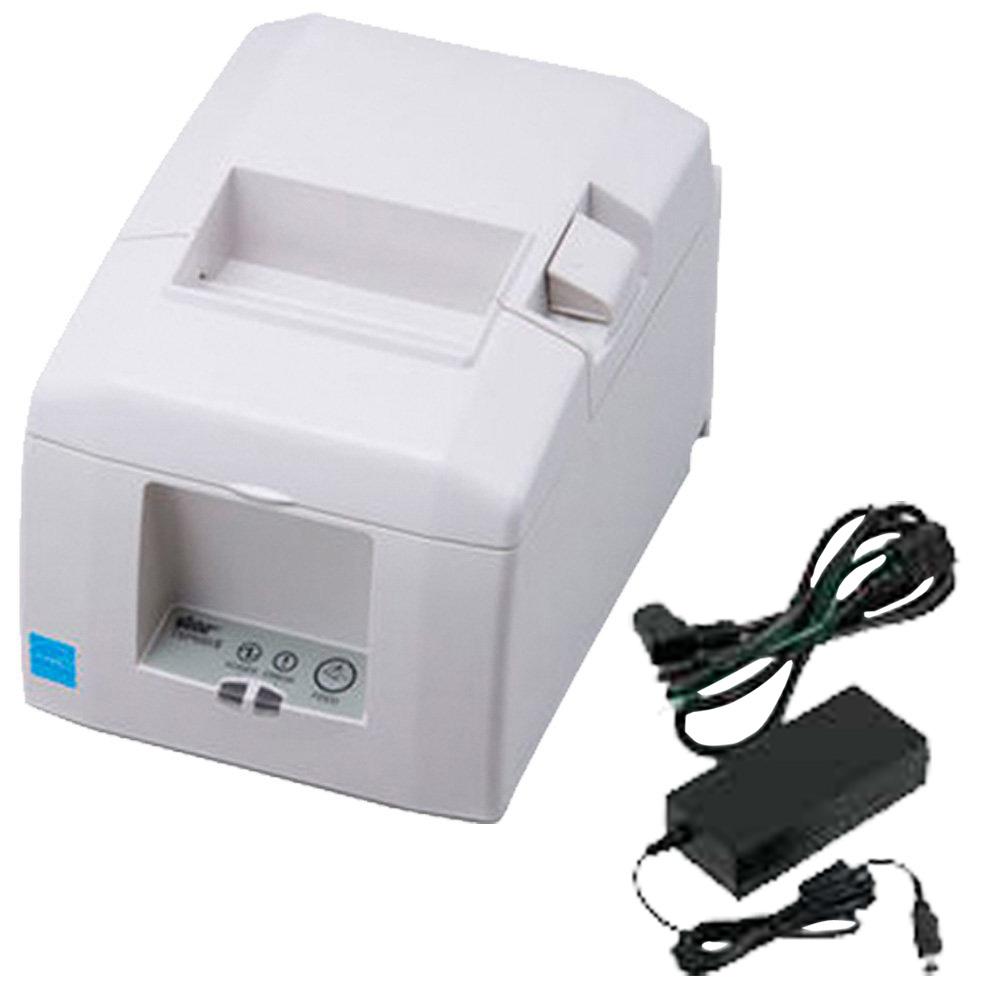 スター精密 据え置き型感熱式プリンター TSP650IIシリーズ TSP654IIE3-24 JP2 セット(ACアダプター付き) Ethernet接続 ホワイト Star Micronics Stationary Thermal Printer TSP650II Series TSP654IIE3-24 JP2 Set (including AC Adapter) Ethernet Connection White