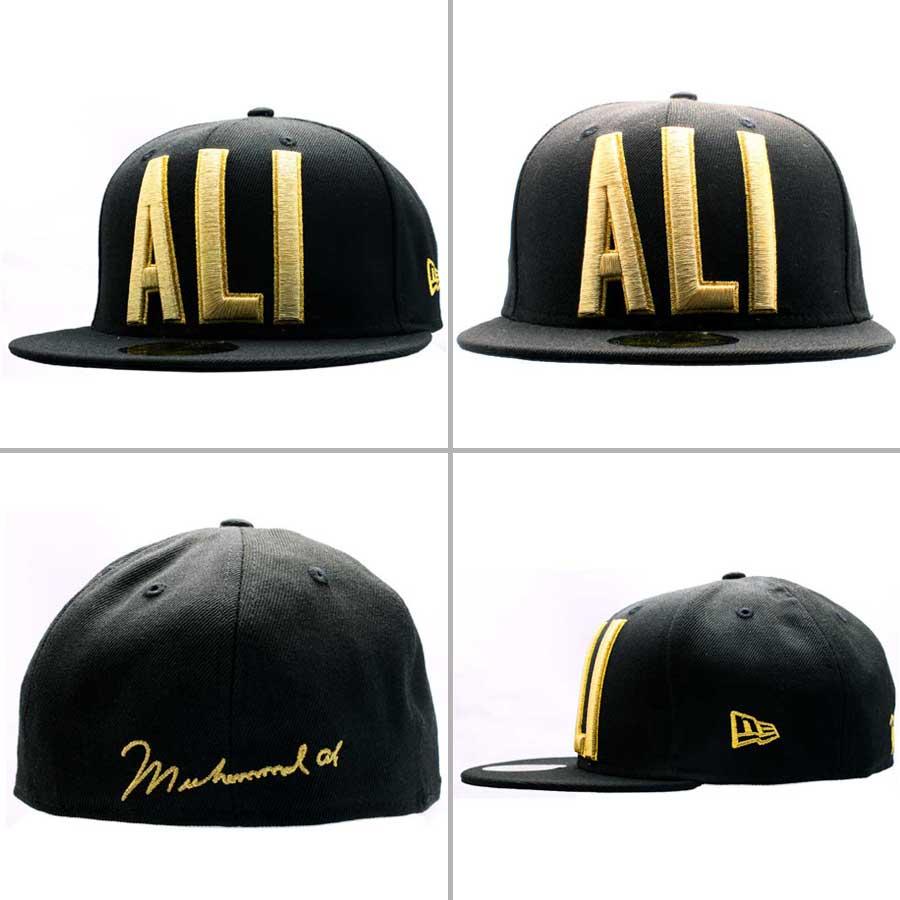 모하메드 개미×뉴 에러 캡 골드 로고 개미 베이직 블랙/골드 Muhammad Ali×New Era Cap GOLD LOGO ALI BASIC Black/Gold
