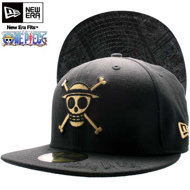 One piece x new era Cap under visor monkey d Luffy black   gold ONE PIECE×New  Era Cap UNDER VISOR Monkey D Luffy Black Gold a629f5fece6