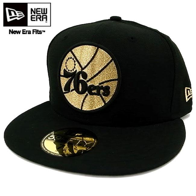 New gills cap gold logo Philadelphia 76ers black   gold New Era Cap GOLD  LOGO NBA Philadelphia 76ers Black Gold ffb4fadc7a6
