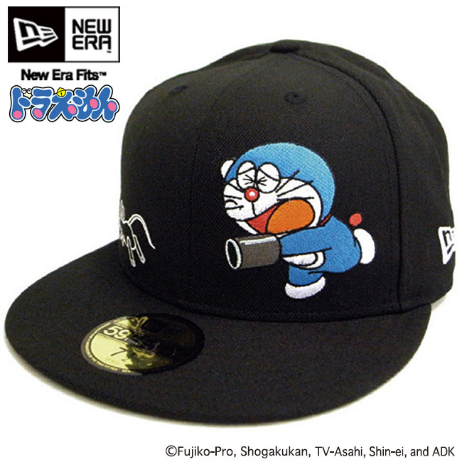 New Era 59fifty DORAEMON  cap Japan animation blue//black