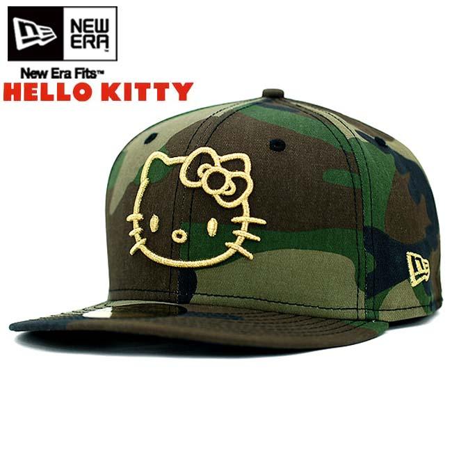 Hello Kitty x new era caps Gold logo Woodland Camo   gold Hello Kitty×New  Era Cap GOLD LOGO Woodland Camo   Gold 122215b30fb