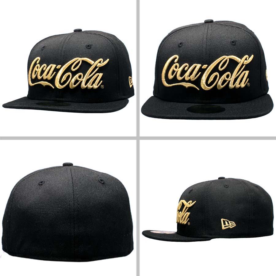 Coca-Cola x new era Cap Gold logo soda series Coca-Cola Coke Black / Gold Coca Cola×New Era Cap Gold logo soda series Coca Cola Coke