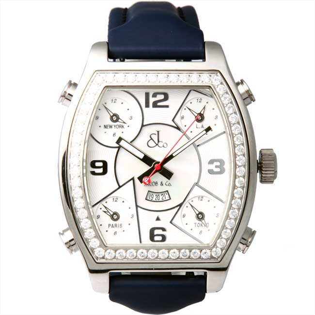 fa665a082a78a cio-inc  Jacob five time zone watch JCS blue belt mother of Pearl ...