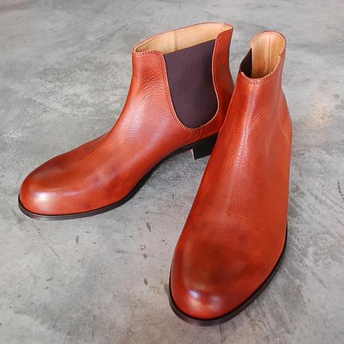 【ポイント11倍】  PADRONE パドローネ メンズ ONESIDE GORE BOOTS ワンサイドゴアブーツ / BRUNO ブルーノ CAMEL キャメル PU7358-1238-17C 革靴
