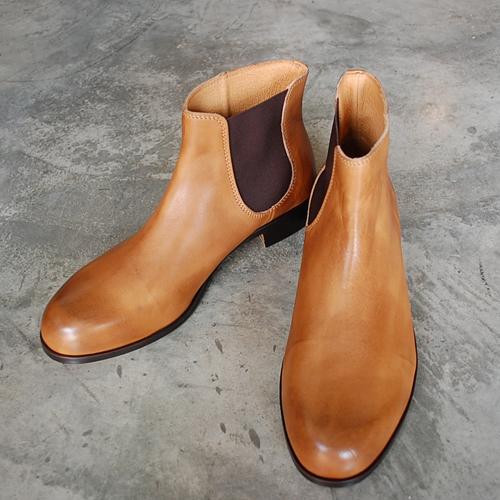 PADRONE パドローネ メンズ ONESIDE GORE BOOTS ワンサイドゴアブーツ / BRUNO ブルーノ BEIGE ベージュ PU7358-1238-17C 革靴