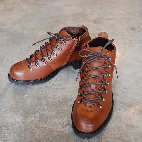 PADRONE パドローネ メンズ SHORT TREKKING BOOTS with SIDE ZIP / BENITO ショートトレッキングブーツ DARK BROWN ダークブラウン PU7358-1224-16C 革靴