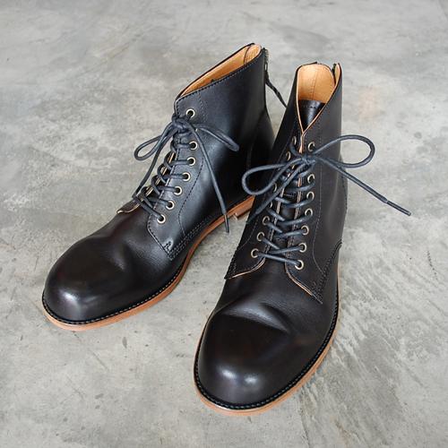 PADRONE(パドローネ) メンズ レースアップバックジップブーツ LACE UP BACK ZIP BOOTS アントニオ ANTONIO PU8054-1102-12A ブラック BLACK 革靴