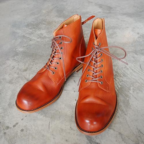 PADRONE(パドローネ) メンズ レースアップバックジップブーツ LACE UP BACK ZIP BOOTS アントニオ ANTONIO PU8054-1102-12A キャメル CAMEL 革靴