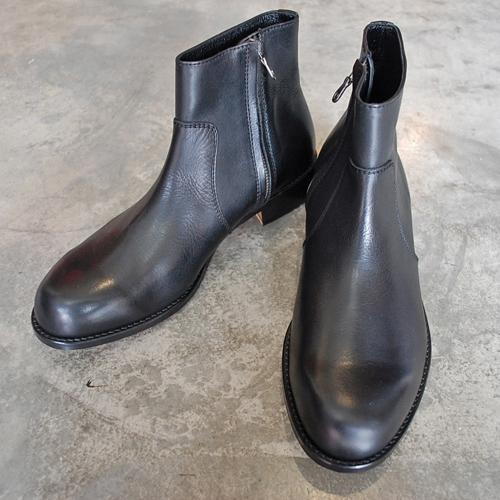 PADRONE パドローネ SIDE ZIP BOOTS / RAUL ラウル ブラック BLACK PU7358-1118-15A 革靴 メンズ