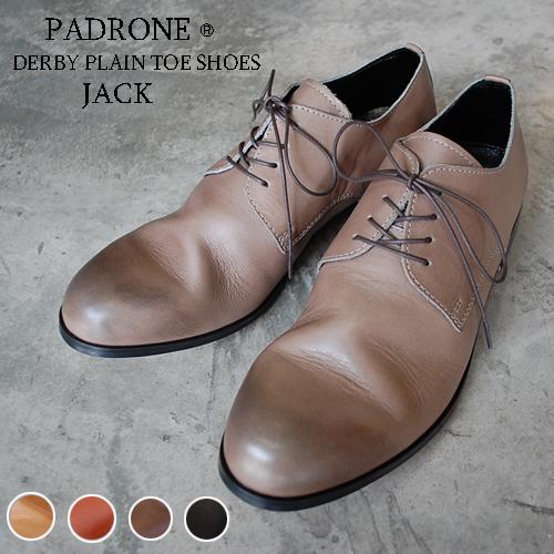 PADRONE パドローネ メンズ DERBY PLAIN TOE SHOES / JACK ジャック PU7358-2001-11C ダービープレーントゥ 革靴