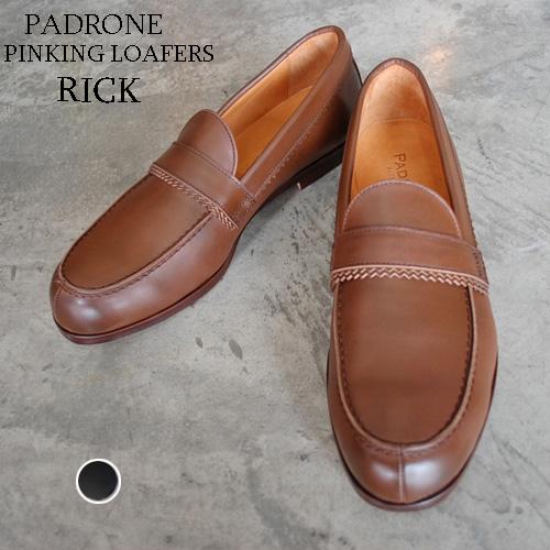 PADRONE パドローネ メンズ PINKKING LOAFER / RICK リック D.BROWN ダークブラウン PU8662-2310-19A ローファー 革靴 日本製