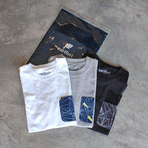 narifuri ナリフリ NF1100 ダズル迷彩ポケットTシャツ(3P) ミックス MIX ホワイト グレー ブラック WHT/GRY/BK