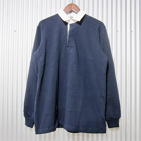 [日本正規品] barbarian [rugby shirts][dfs-01][regular][ls][heavy][solid][navy] バーバリアン ラガーシャツ レギュラーカラー ヘヴィーウエイト 長袖 ネイビー