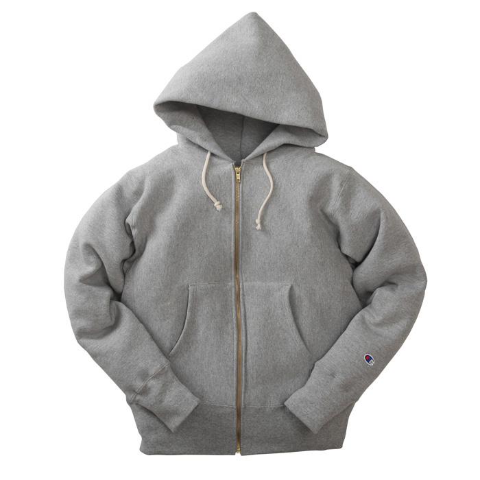 [MADE IN USA] champion [sweat][c5-u102][ls][parka][zip][ox.gray] チャンピオン ジップ スウェットパーカー オックスフォードグレー
