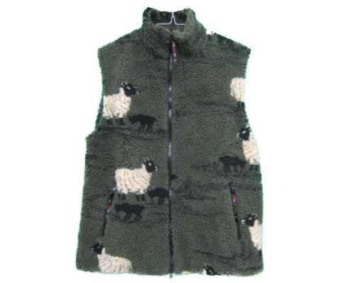 farfield [fell vest][sheep and lamb][olive][1901] ファーフィールド フェルベスト フリースベスト