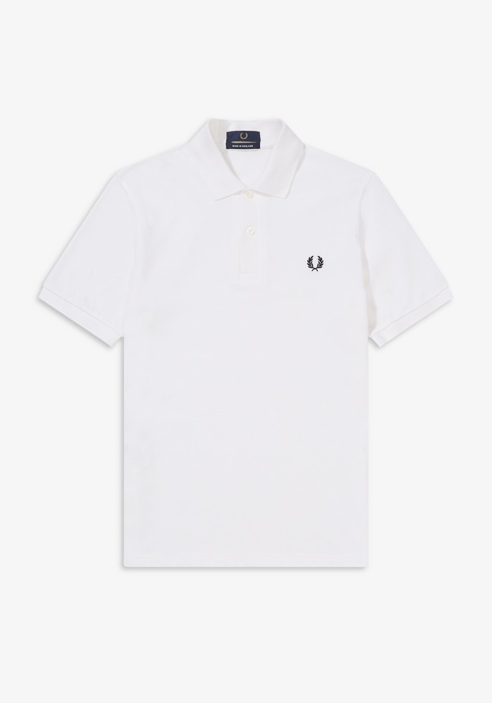 [MADE IN ENGLAND] FRED PERRY [M3][the original one colour fred perry shirt][white] フレッドペリー オリジナル ワンカラー フレッドペリーシャツ ポロシャツ ホワイト 英国製