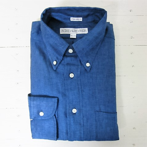 日本正規品取扱店 リネン individualized shirts 新登場 インディビジュアライズドシャツ 新品■送料無料■ linen standard indigo ls