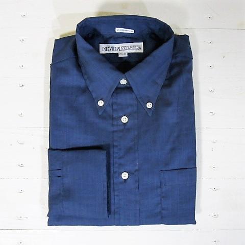 individualized shirts インディビジュアライズドシャツ [ls][ultra light poplin][standard][navy]