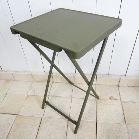 military ミリタリー [metal folding table][dead stock][olive]