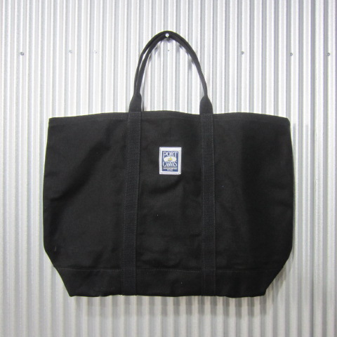 port canvas [windjammer tote][solid][black] ポートキャンバス ウィンドジャマー トート ビッグ トートバッグ ブラック