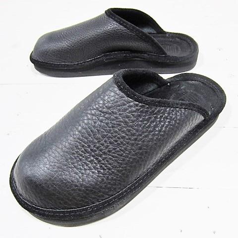 [当店別注] the sandalman [crogs][bullhide][black] サンダルマン クロッグ ブラック