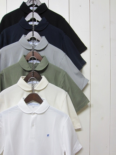 glacon グラソン [round collar polo][ss][solid][6c]